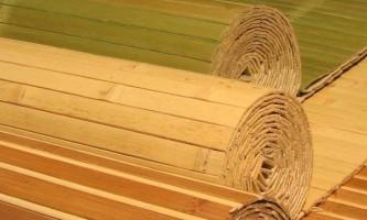 Бамбукові шпалери: види, особливості та поклейка