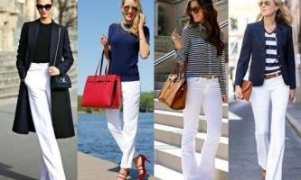 Білі штани жіночі: з чим носити?