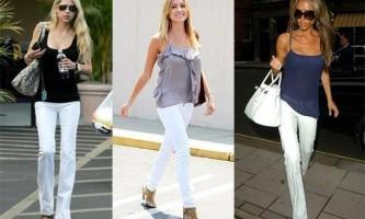З чим носити білі джинси?