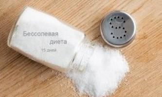 Без солі дієта на 15 днів