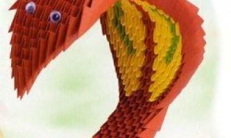 Паперова змія з модулів