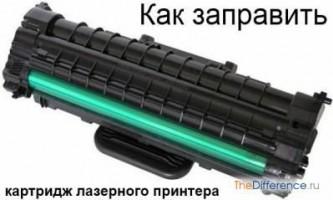Як заправити картридж лазерного принтера
