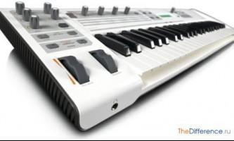 Чим відрізняється міді-клавіатура від синтезатора?