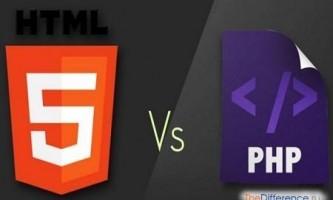 Чим відрізняється php від html?