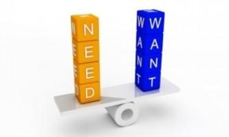 Чим відрізняється потреба від бажання?