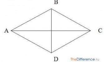 Чим відрізняється ромб від квадрата?