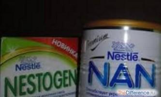 Чим відрізняється суміш нан від нестожен?