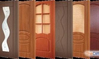 Чим відрізняються ламіновані двері від шпонованих?
