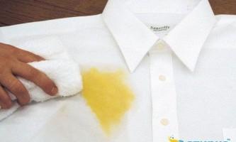 Чим вивести масляна пляма з одягу, меблів і текстилю