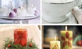 Декупаж свічки своїми руками