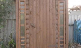 Дерев`яна кабіна для літнього душа