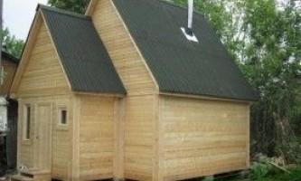 Двосхилий дах для лазні: технологія будівництва