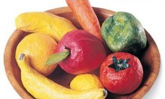 Виготовлення овочів і фруктів своїми руками: майстер-клас