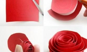 Як робити троянду з паперу?