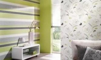 Як клеїти два види шпалер на стіні