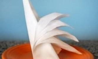 Як красиво скласти паперові серветки