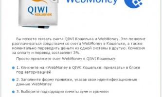 Як перевести гроші з webmoney на qiwi?