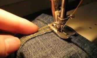 Як підшити джинси на машинці?