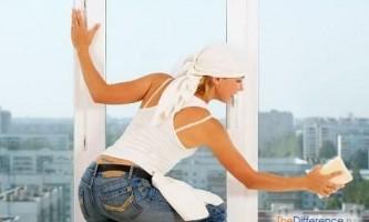 Як помити вікна на балконі?