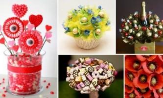 Як зробити букет з цукерок?