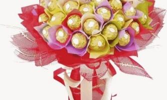 Як зробити букети з цукерок своїми руками - фото і відео