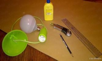 Як зробити дизайнерську люстру своїми руками