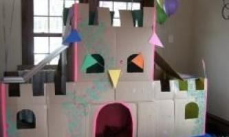 Як зробити будинок з картону для дітей