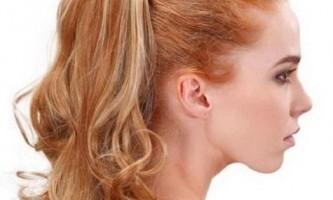 Як зробити хвіст з накладних волосся?