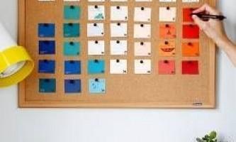 Як зробити календар своїми руками