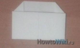 Як зробити конверт з листа a4?