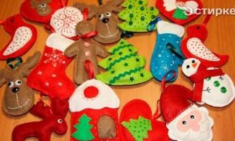 Як зробити новорічні іграшки своїми руками