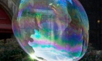 Як зробити величезні мильні бульбашки
