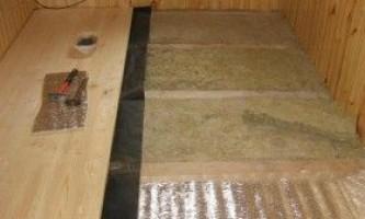 Як зробити підлогу в лазні