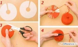 Як зробити помпон з пряжі?