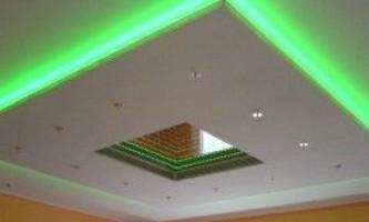 Як зробити стелю з гіпсокартону з підсвічуванням