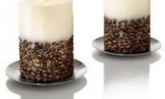 Як зробити свічку з ароматом кави своїми руками