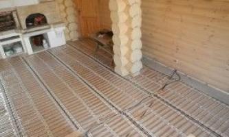 Як зробити тепла підлога для лазні