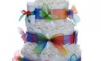 Як зробити торт з памперсів
