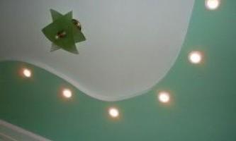 Як зробити хвилю з гіпсокартону на стелі