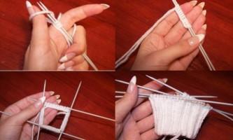 Як зв`язати рукавиці і шкарпетки спицями - уроки для початківців