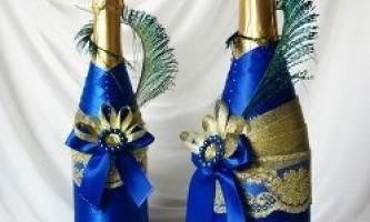 Як прикрасити пляшку шампанського