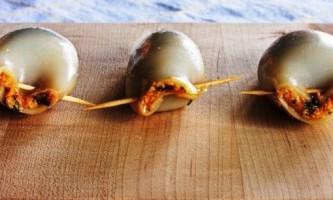 Кальмари фаршировані дієтичні - рецепти