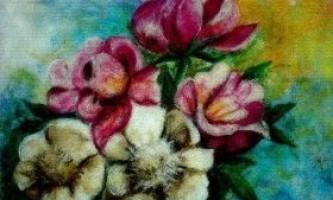 Картини з вовни, квіти, іграшки
