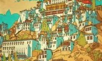 Книга-розмальовка для дорослих з дуже важкими малюнками світових міст