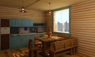 Кухня в лазні: особливості, планування, облаштування