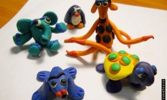 Ліплення тварин з пластиліну
