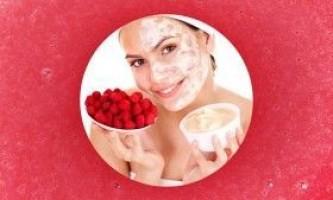 Маски з малини для шкіри обличчя
