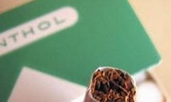 Ментолові сигарети небезпечніше звичайних