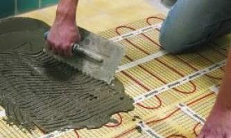 Монтаж електричної підлоги