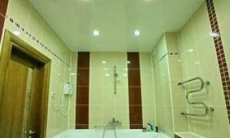 Натяжні стелі у ванній кімнаті: правила монтажу